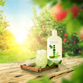 Aloe Vera 99.5% gel drink - apple + acai